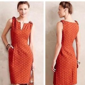 Anthropologie Tabitha Orange Dress